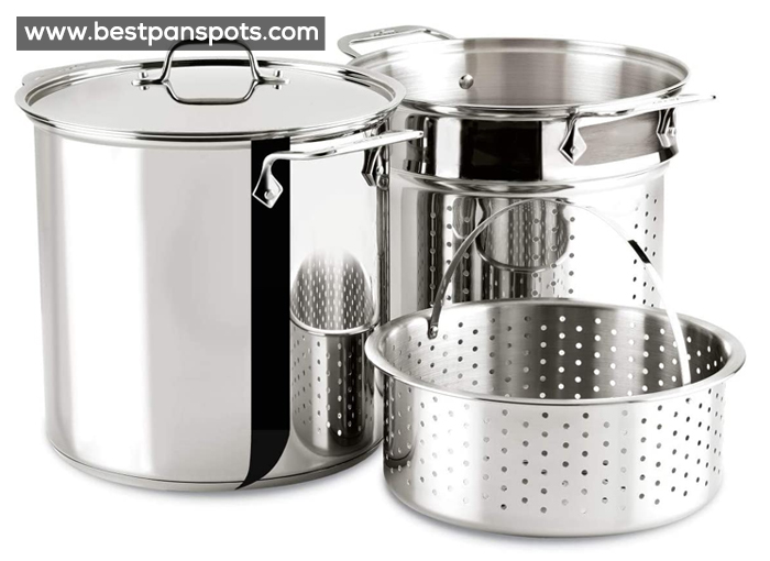 All-Clad E414S6 Stainless Steel Cookware Set