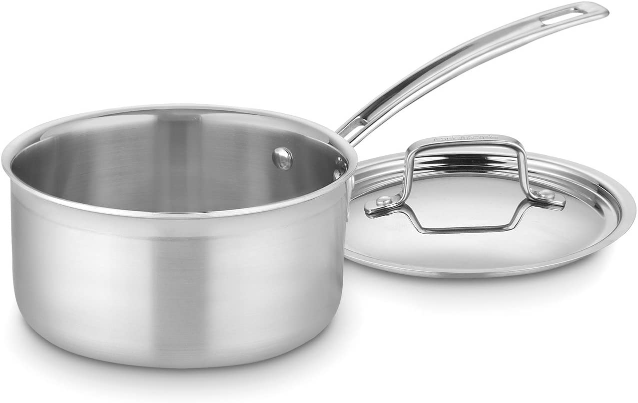 Cuisinart MultiClad Pro Stainless Steel 2-Quart Saucepan with Cover